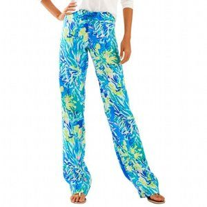 Lilly Pulitzer Galley Pant in Brilliant Blue Sea